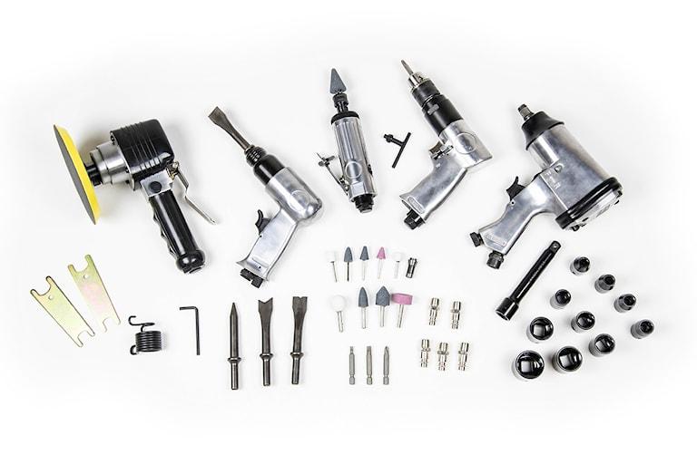 DUAB Tryckluftsdriven verktygssats 50 delar, 4000000012