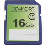 SD-kort 16 GB Minneskort, 1000467324