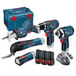 Bosch 12V Professional verktygsset 12 V-LI med 5 sladdlösa maskiner, 1000113874