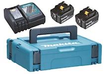 Makita Batteri & laddare 18V 2st 5 Ah BL1850B + laddare D, 4000000115