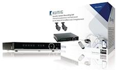 König Inspelningsset för övervakningskamera med inbyggd 500 GB hårddisk, 1000451479
