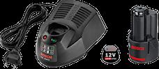 Bosch 12V-Li 2,0Ah Batteriset, 1000132358