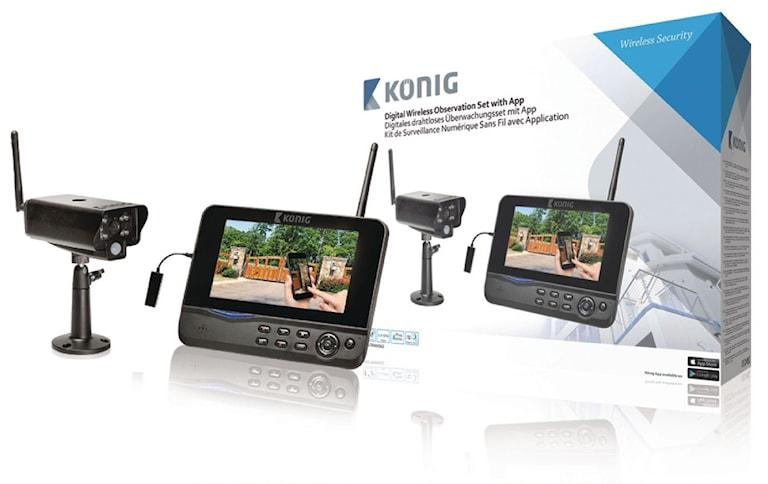 König Digital Trådlöst Övervakningspaket  2.4 GHz - 1x Kamera, 1000451487