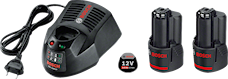 Bosch 12V 2x3,0Ah Batteriset, 1000132305