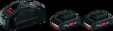 Bosch Procore 18V 2x4Ah GAL1880Cv Starterset, 1600A016GF