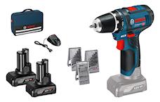 Bosch GSR 12V-15 Skruvdragare i väska + 39-delars tillbehörssats, 0615990HV1