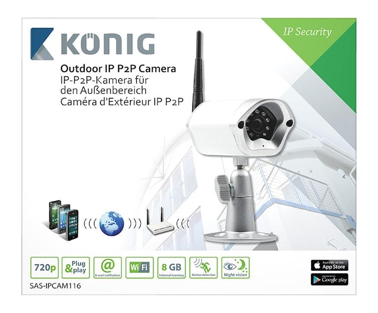 König HD Fast IP-kamera Utomhus 720P Metall, 1000451462