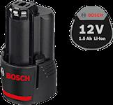 Bosch 12V 1,5Ah Lithium Batteri , 1000132345