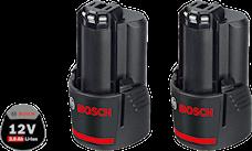 Bosch 12V 2x3,0Ah Batteriset, 1000132304